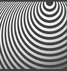 Radiating circles pattern creative monochrome vector