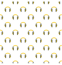 rap headset pattern seamless vector image