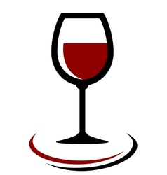 Red wine glass icon vector