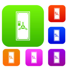 Safe door set collection vector