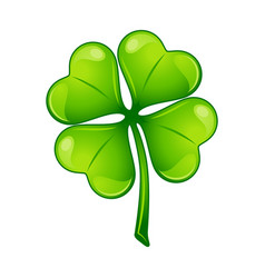 Saint patricks day irish four leaf vector