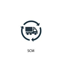 Scm icon simple element scm concept vector