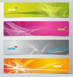 set abstract colorful web headers vector image