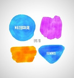 set of watercolor elements vector image