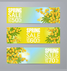 Set spring sale vertical banners with vector