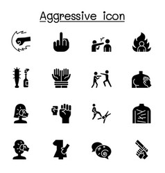 Set violence related icons contains such icons vector