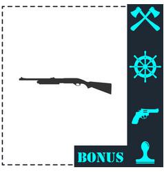shotgun icon flat vector image