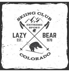 Ski club concept vector image