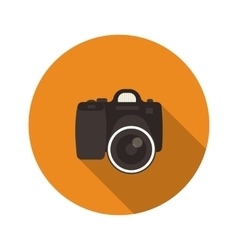 Slr optical camera vector image