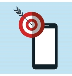 smartphone target icon vector image