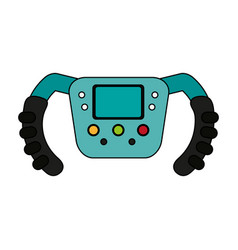 steering wheel racer flat vector image