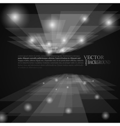 Stylish black and white rays abstract mosaic vector