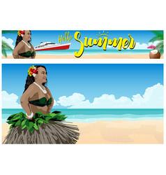 summer paradise on beach vector image
