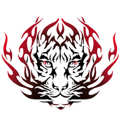 tiger image design tattoo emblem vector image