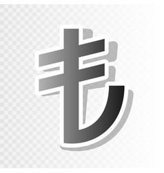 turkiey lira sign new year blackish icon vector image