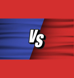 versus screen blue and red wave flaf vs fight vector image