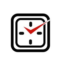 Wall clock business logo vector image
