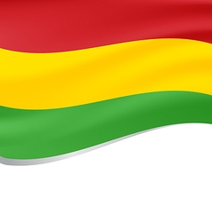 Waving flag of bolivia isolated on white vector