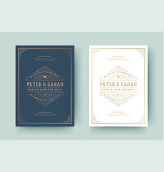 Wedding invitation save date card template vector