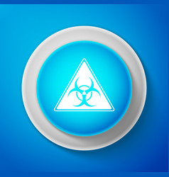 White triangle sign with biohazard symbol icon vector