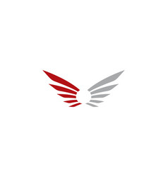 wing logo template vector image
