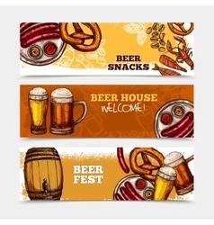 Beer banner set vector
