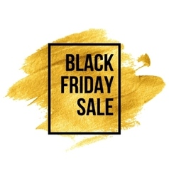 Black Friday Designs on gold blob vector image vector image