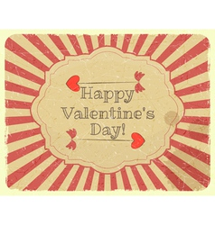 Grunge Design Valentines Day Card vector image