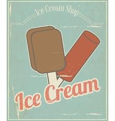 Ice Cream Vintage Card vector image