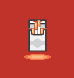 icon in line work style of pack cigarettes vector image