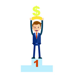 manager top place with money dollar sign isolated vector image