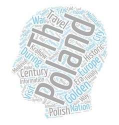 Once Golden Again Golden Poland text background vector image vector image