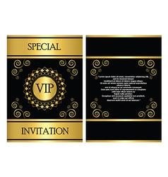 Vip invitation card template vector