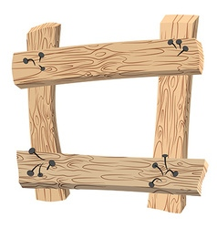 Frame of Old planks Old wooden boards Rusty nails vector image
