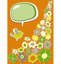 Fresh social media bird communication vector image vector image