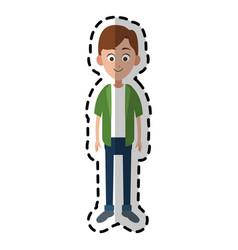 Happy boy kid or child icon image vector