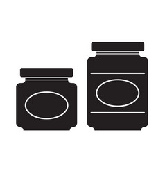 jar silhouettes vector image