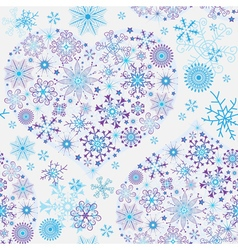 Seamless white christmas pattern vector image vector image