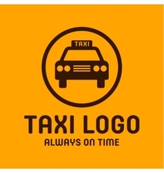 Taxi yellow logo icon style trend car sign vector image vector image