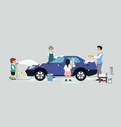 wash a car vector image vector image