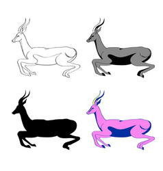 an image of an antelope in vector image