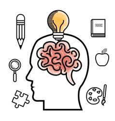 brain storming design vector image vector image