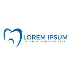 dental clinic logo design vector image