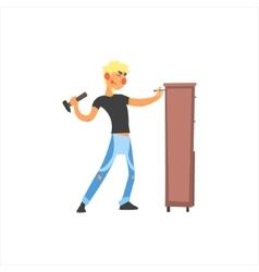 Profession Carpenter vector image