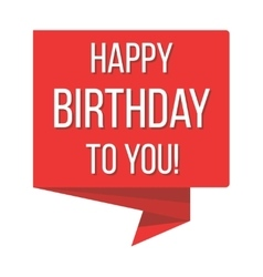 Happy birthday red banner vector image vector image