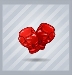 red boxing gloves isolated sport item vector image vector image