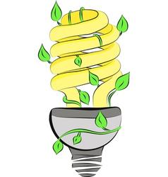 1Energy saving light bulb vector image