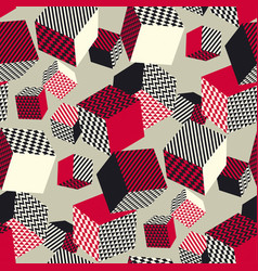 abstract 3d geometric seamless pattern vector image