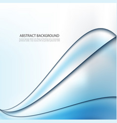 abstract background blue waved lines vector image