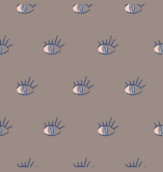 Abstract hipster eyes seamless background vector